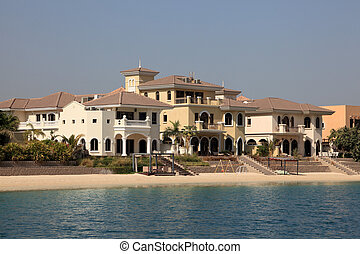 Beachside Villas at The Palm Jumeirah in Dubai, United Arab...