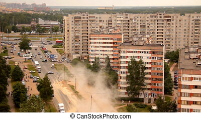 breach of hot water - Russia, 05/07/2011 Breakthrough hot...