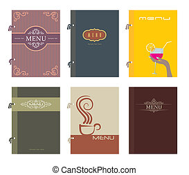 Menu - Set of restaurant menu design, vector illustration