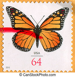 Butterfly - UNITED STATES - CIRCA 2010: stamp printed by...
