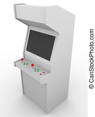 Arcade machine - Retro style video game. Arcade machine made...