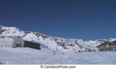 cableway 01 - Cable car in Alps ski resort