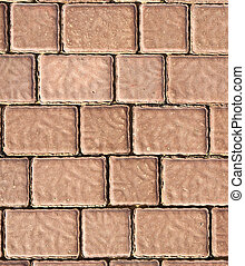 Brick footpath background.