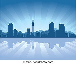 Auckland, New Zealand skyline - Auckland skyline with...