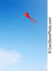 Paper kite - Japanese paper kite in blue sky