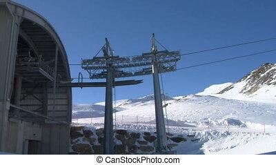 cableway 02 - Cable car in Alps ski resort