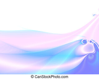 Abstract blue waves and gradients in a combination with other colors