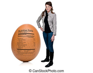 Woman Egg with Nutrition Facts