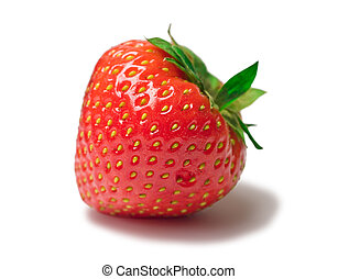 appetizing brightly red strawberry on a white background
