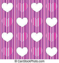 Purple pink heart seamless pattern