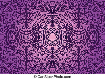 Violet elegant seamless pattern may be used as background