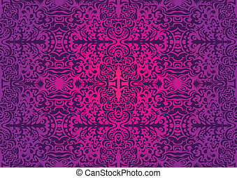 Violet fun elegant seamless pattern