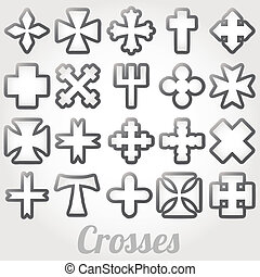 vector, Conjunto, Cruces