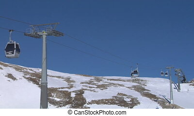 cableway 04 - Cable car going to Alps ski resort