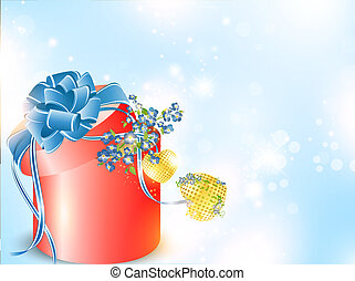 Valentine`s day background with forget-me-not flowers in...
