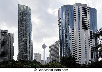 Kuala Lumpur Daytime Cityscape Street View - Kuala Lumpur...