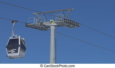 cableway 05 - Cable car going to Alps ski resort