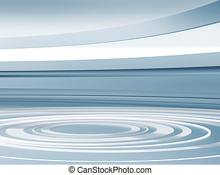 Abstract background in neutral tones with light circles and...