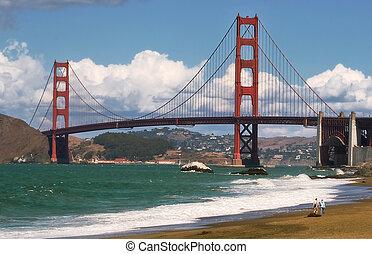 Golden Gate Bridge. - Golden Gate Bridge as seen from Baker...
