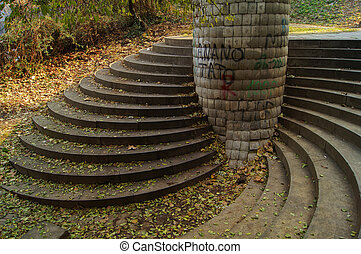 Tbilisi parks - Steps in the one of the most popular park in...