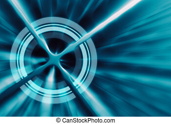 Target concept abstract futuristic background