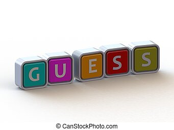 Cubes: Guess - Render artwork with white background