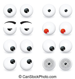 Eye Balls - Collection of eye ball cartoon in different...