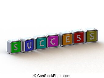 Sucess - Render artwork with white background
