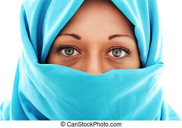 Young beautiful muslim woman