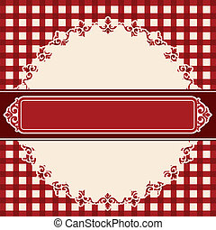 Vintage lace ornaments on background. Vector