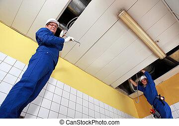 electricistas, Cableado, grande, habitación