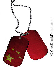 China ID tags  tags isolated on white background