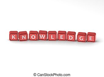Cubes: knowledge - Render artwork with white background