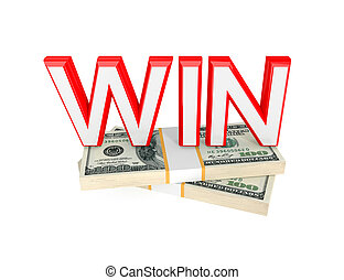 Word WIN and two packs of money. - Word WIN and two packs of...