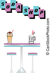 soda shop elements - elements for soda shop from fifties era...