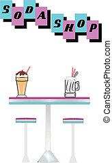 soda shop elements - elements for soda shop from fifties era...