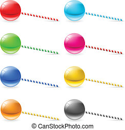 Lollipops - Set of lollipops Illustration on white...