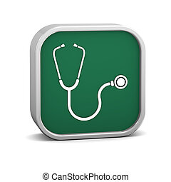 Stethoscope Sign on a white background part of a series