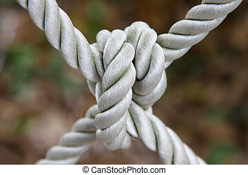 Ship rope with knot