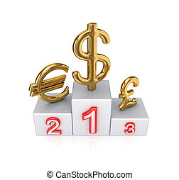 Forex concept. Isolated on white background.3d rendered.