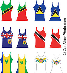 Caribbean Tank Tops - Vector llustration of Caribbean Tank...