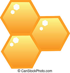 Orange Bee Hives Cartoon Character