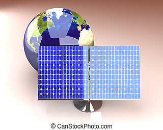 Alternative Energy - America - 3D rendered Illustration