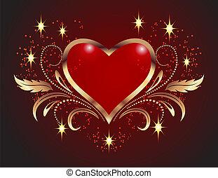 decorativo, corações