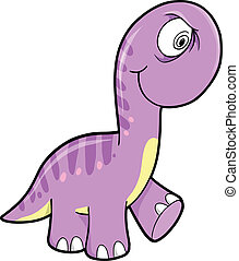 Crazy Purple Dinosaur Animal Vector