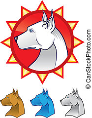 Pit Bull Terrier - Vector illustration of a Pit Bull head...