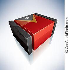 3D flag of Timor-Leste