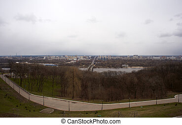 Viev of  Dnepr river in Kiev, Ukraine