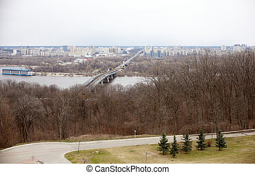 Dnepr river in Kiev - Viev of  Dnepr river in Kiev, Ukraine