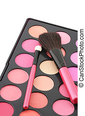 Blushes palette and applicators